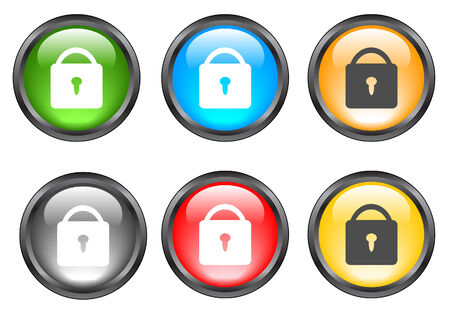 Internet shiny buttons. Vector illustration. Stock Vector - 5195301