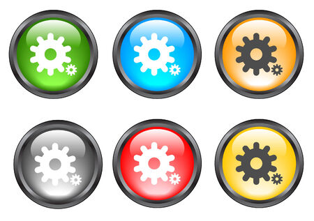 Internet shiny buttons. Vector illustration. Vector