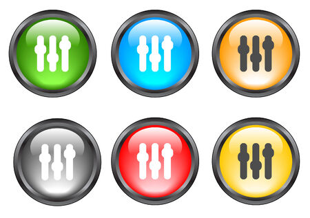 Internet shiny buttons. Vector illustration. Vector