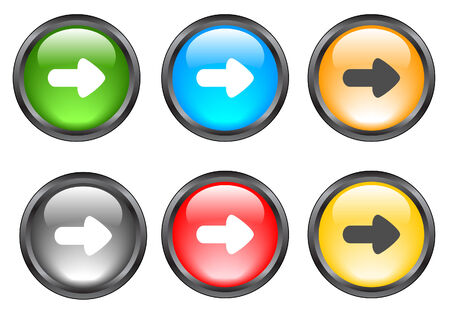 favorite colour: Internet shiny buttons. Vector illustration. Illustration
