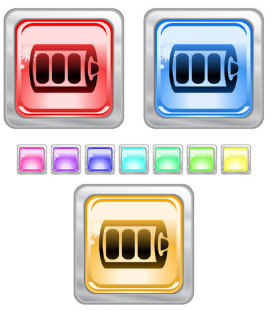 Color web buttons. Vector illustration Vector
