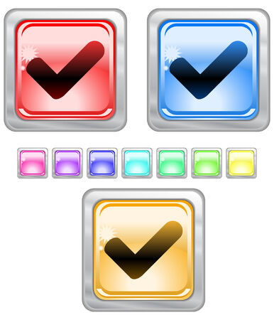 Color web buttons. Vector illustration Stock Vector - 5271360