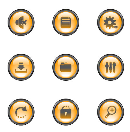 Web buttons Stock Vector - 5538959