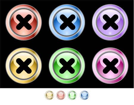 Web buttons Stock Vector - 5538937