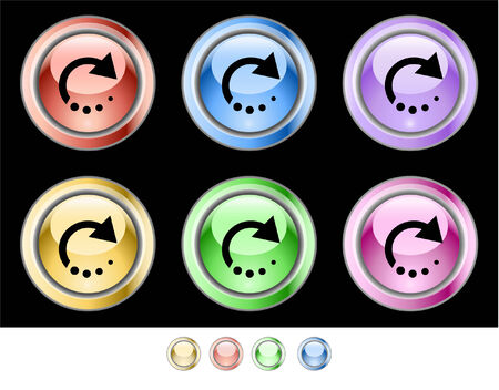 Web buttons Stock Vector - 5538948