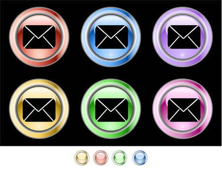 Color web buttons Vector