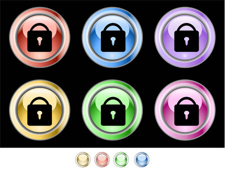 Color web buttons Stock Vector - 5585249