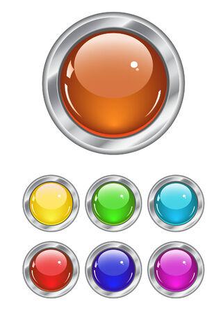 Botones de colores web. Ilustración vectorial