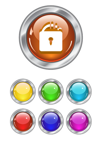 Color web buttons. Vector illustration Stock Vector - 5621092