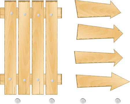 bad plan:  set of wooden sign vector