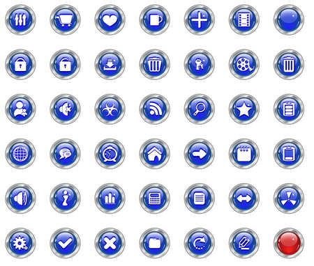 Color web buttons. Vector illustration Stock Vector - 5660287