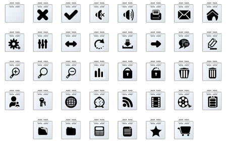 Stickers with web icons