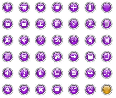 Color web buttons. Vector illustration Stock Vector - 5805372