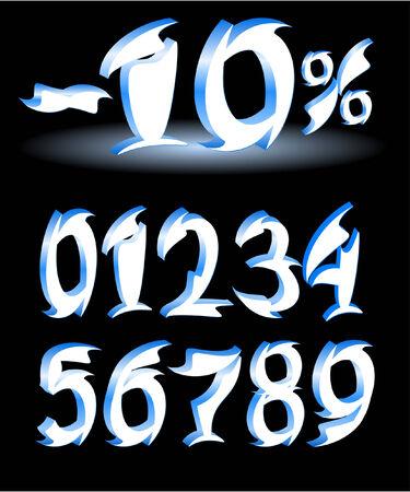 arabic numerals: arabic numerals design Illustration