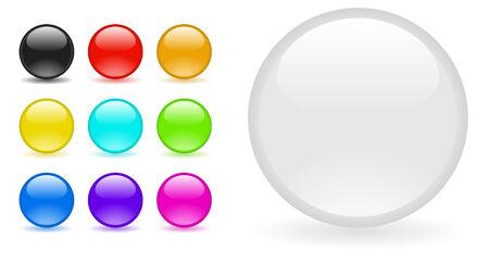 glass balls Vector