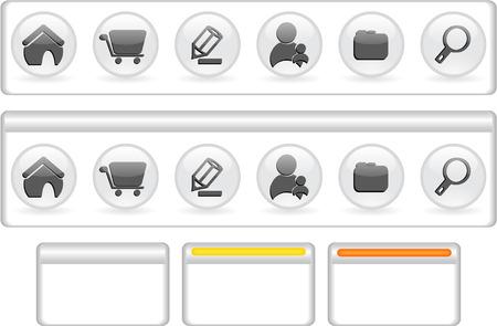 website navigation template Stock Vector - 5805322