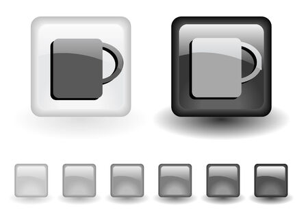 greyscale: grey buttons