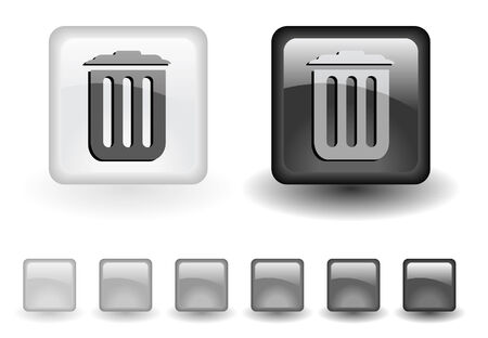 grey buttons Stock Vector - 6642020