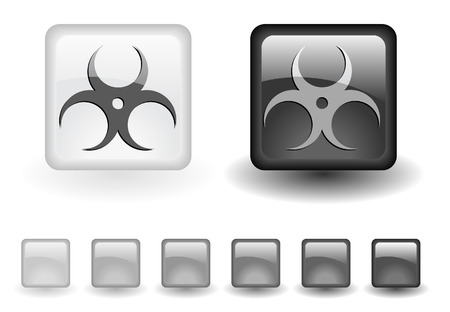 grey buttons Stock Vector - 6642006