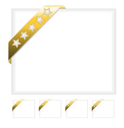 Gold corner ribbon Vector