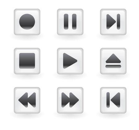 pausa: botones de medios de comunicaci�n. Ilustraci�n Vectores