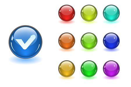 Color web buttons Stock Vector - 6838023