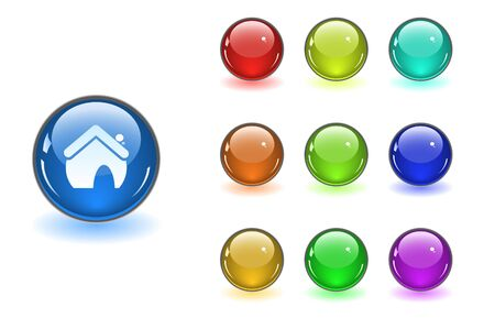 Color web buttons Stock Vector - 6838075
