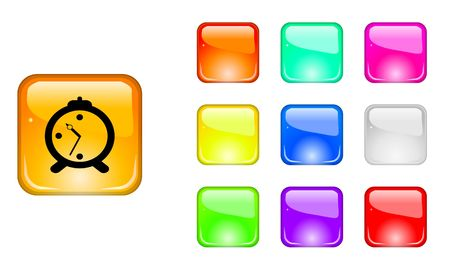 Color web buttons Stock Vector - 6838172