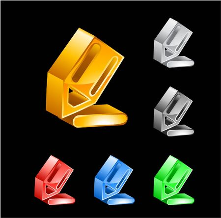 3D vector icons Vector