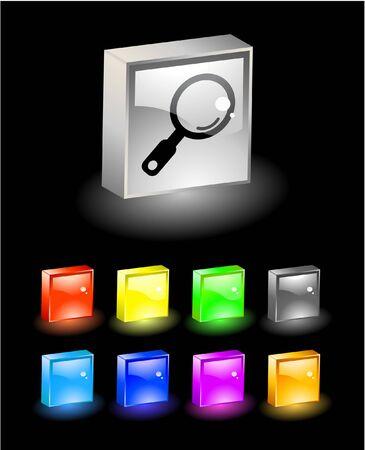 3D buttons. Vector illustration. Stock Illustration - 6838267