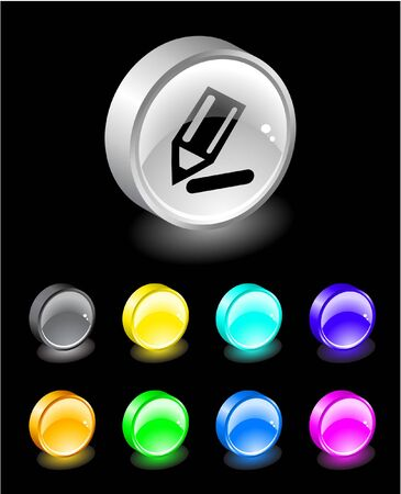3D buttons. Vector illustration. illustration