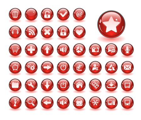 Web buttons. Vector illustration Stock Illustration - 6838448