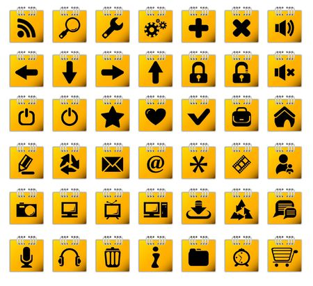 Stickers with web icons photo