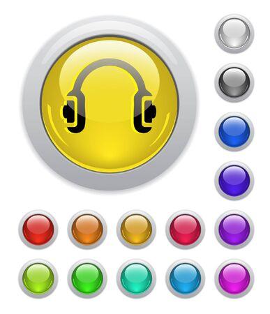 Web buttons. Vector illustration. illustration