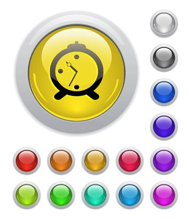 Web buttons. Vector illustration. Stock Illustration - 6838380