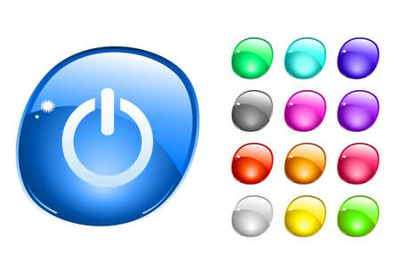 Web buttons. illustration. illustration