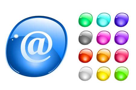 arroba: Web buttons.  illustration. Stock Photo