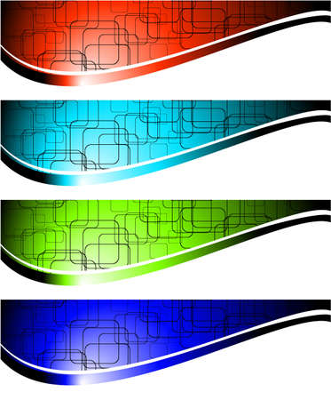 Abstract banners.  illustration. Vector