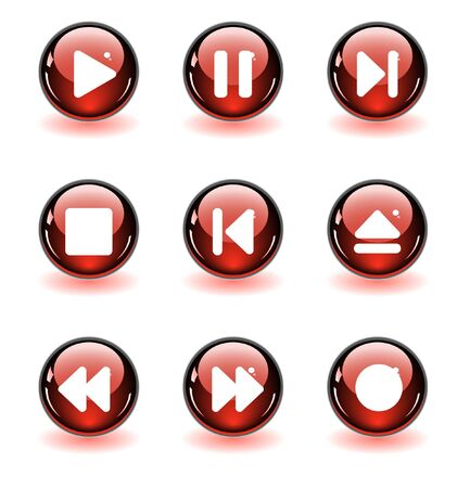 media buttons.  illustration Stock Illustration - 6942500