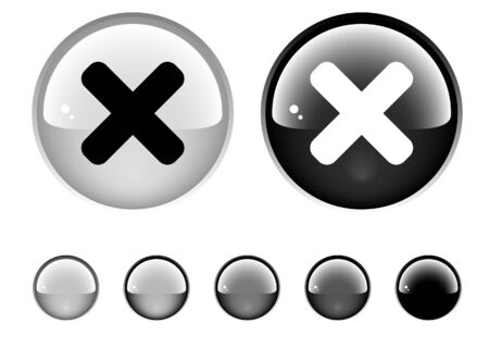 unchecked: Buttons for web Stock Photo