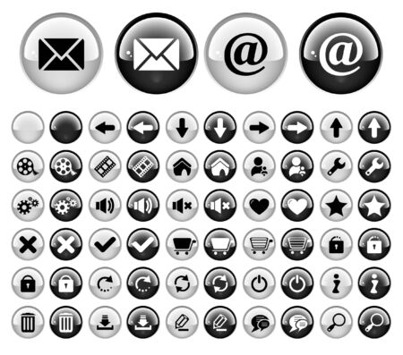 Buttons for web Stock Photo