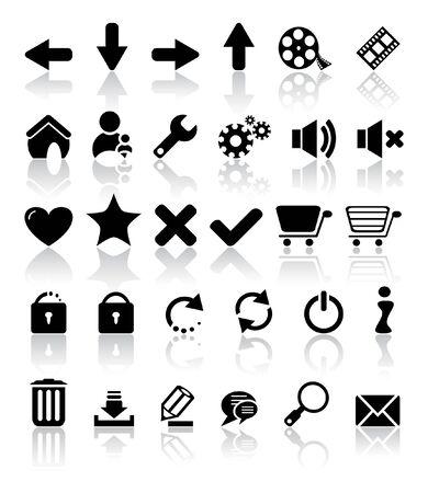secure shopping: set of web icons