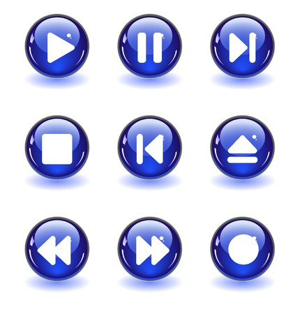 media buttons.  photo