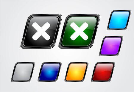 Web buttons. Vector illustration. Stock Illustration - 7145785