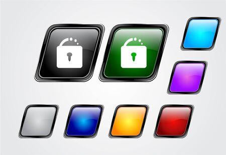 Web buttons. Vector illustration. Stock Illustration - 7145776