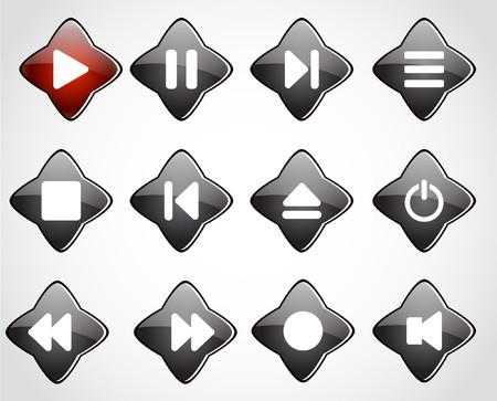 media buttons. Vector illustration Stock Illustration - 7145767