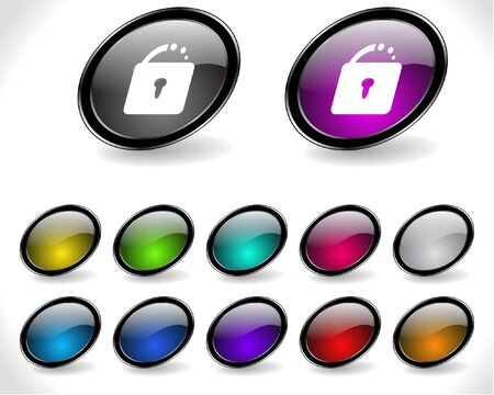 metall and glass: Web buttons. Vector illustration.