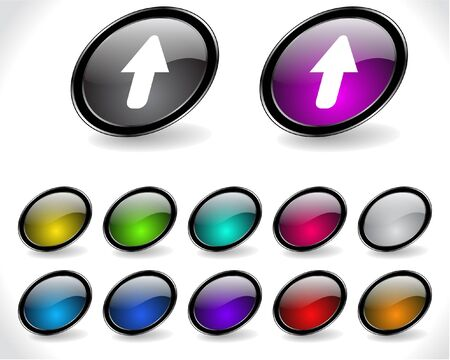 metall: Web buttons. Vector illustration.