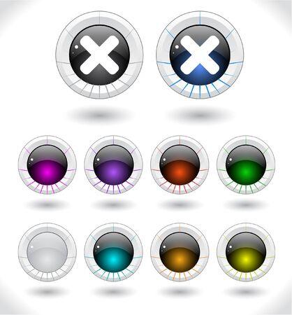 Web buttons illustration. illustration