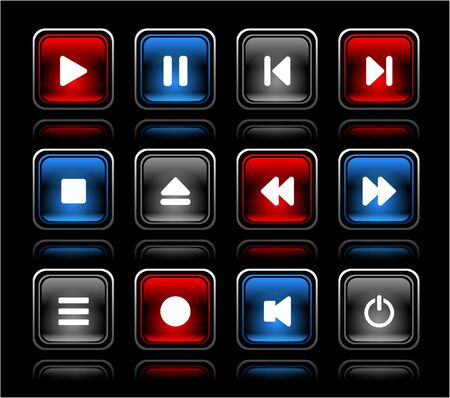 media buttons. Vector illustration Stock Illustration - 7203391